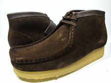 New Clarks of England Wallabee Boots Brown Suede Men's Shoes 35402