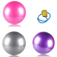 USPS Anti Burst Yoga Pilates Fitness Exercise Ball Stability With Hand Pump 65cm