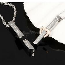 Forever Love 316L Stainless Steel Couple Lover Valentine's Pendant Necklace Gift
