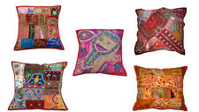 Indian Handmade Embroidered Patchwork Cushion Cover Pillow Case Wholesale Lot