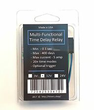 DC 12V Power On Time Relay Delay Timer 0~600 Second NEW