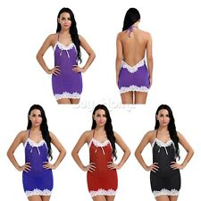Charm Sexy Women Lingerie Nightwear Underwear Babydoll Sleepwear Dress G-string!