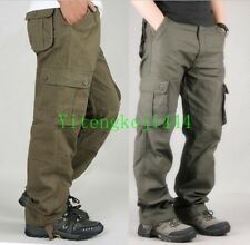 Mens Fashion Cargo Casual Pant Multi Pocket Military Overall Men Outdoors Chic B