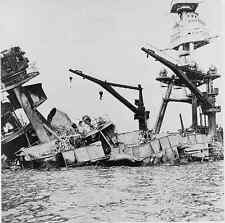 Photo Wreckage of USS Arizona Pearl Harbor Hawaii War December 7, 1941
