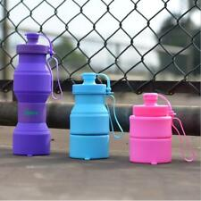 750ml Large Collapsible Water Drink Bottle Hiking Camping Sports Hydration