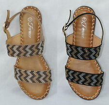 Wholesale Lot 6 pairs Sandals Gladiator Strap Bling Rhinestone Forever PROUD-3