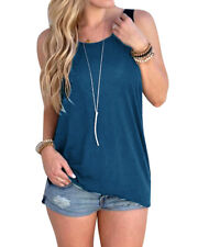 Women's Backless Sleeveless T-Shirt Vest Ladys Summer Loose Tank Tops Blouse
