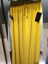 BNWT ZARA MUSTARD YELLOW LONG SKIRT WITH SLITS SIZE M