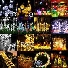 1-22M 10-200 LED Solar Powered Fairy String Light Outdoor Garden Party Xmas Lamp