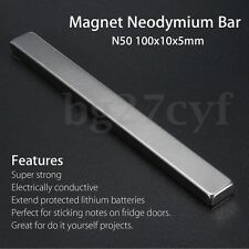 1/5/10/20/50/100 x Strong Block Strip Magnet Rare Earth Neodymium 100x10x5mm N50