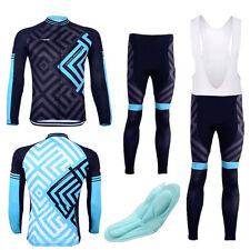 Men's Long Sleeve MTB Bike Cycling Jersey Set Bicycle Clothing Wear Padded Pants
