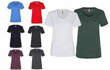 American Apparel Womens T-Shirt Short Sleeved Scooped Neck Womens T Shirt AA056