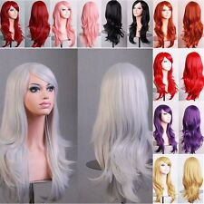 Hot Women Natural Synthetic Hair Wig Cosplay Party Long Curly Wavy Full Wigs #xf