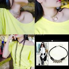 Vintage Gothic Skeleton Lace Retro Choker Collar Necklace Charm Pendant Jewelry