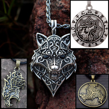 Celtic wolf Head Viking Nordic Necklace Rune Molvinets Symber Slavic Jewelry