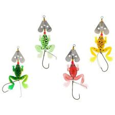 12cm Soft Fishing Lures Rubber Frog Bass Bait Spinner Lures Crankbait Tackle