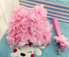 Dog Harness Vest Adorable Dress pink Pet Cotton Lace for chihuahua yorkie teacup