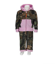 Trail Crest Camo Fleece Jacket and Pants Set Toddler Pink Highland Timber