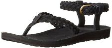 TEVA women's SANDALS Original Suede BRAIDED Ankle Strap Sandals BLACK size 7