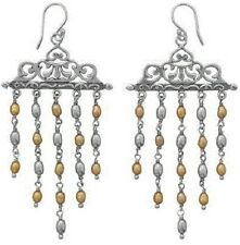 Sterling Silver, Ornate Cultured Freshwater Pearl Earrings, French Wire, Order N