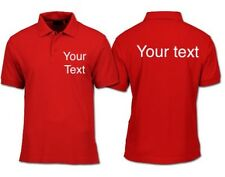 Custom Printed polo shirts embroidered logos personalised workwear
