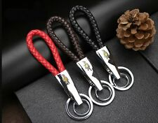 For Chevrolet PU Leather Rope Key Chain Ring Metal Keyring New Car Logos Fashion