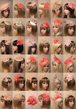 NATURAL / SKIN / CORAL FASCINATOR, WEDDING, PROM, RACES, ASCOT, OCCASION - LOT