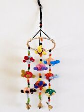 Baby / Childs Fair Trade hand made mobile with turtles and bells