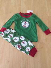 NWT Gymboree Boys Sheep Gymmies Pajamas 6-12 M christmas Baby