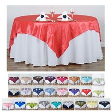 """Taffeta Crinkle Table Overlay 90"""" x 90"""" (Table Toppers)"""