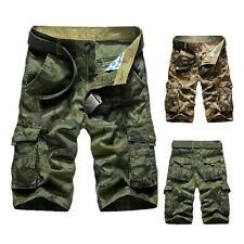 Hot Mens Shorts Casual Army Cargo Combat Camo Camouflage Sports Short Pants