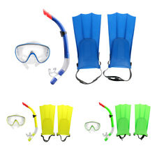 Open Heel Flippers Snorkel Mask Fins Snorkel Set Snorkeling Diving Equipment