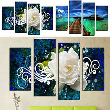 Modern Seaside Floral Oil Painting Pictures Living Room Wall Art Home Decor