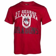 St George Dragons NRL Supporter T-Shirt Tee BNWT Kids Rugby League Clothing