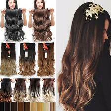 Natural One Piece Clip in Hair Extensions Half Full Head Thick Long as Human T95