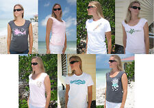 American Apparel Tee T Shirt Beach Surf Hawaii Coral Fish Seahorse Tank Top NEW