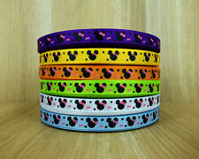 "3/8"" 50Yards Minnie Mouse Cartoon Printed Grosgrain Ribbon Hairbows"