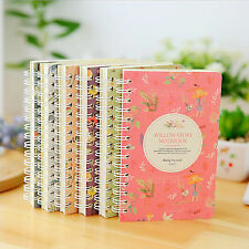Spiral Notebook Colours Notepad Spiral Pad -  80 sheets Paper Notebook Tabbed