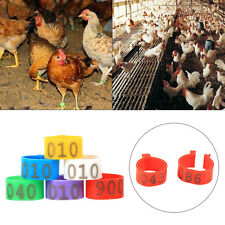 100pc 16mm 20mm Clip On Leg Band Rings for Chickens Ducks Hens Poultry Pigeon
