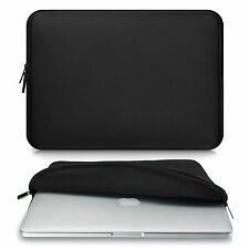 BLACK Zipper Sleeve Bag Case Cover for All Laptop 13-15.4'' Macbook / Pro / Air