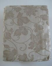 2 pc Set TWIN DUVET COVER Jacquard Floral Woven Beige Mocha Cotton from EUROPE