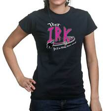 Visit Planet Irk Funny Cartoon Ladies T shirt Tee Top T-shirt