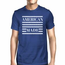 American Made Mens Unique Independence Day Design T-Shirt For Men