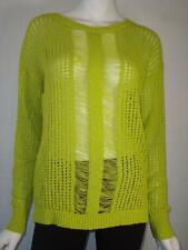 Two by VINCE CAMUTO sz Small Lime Knit Overlay Light Sweater Top