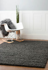 Cozy Plush Solid Charcoal Gray Thick Soft Shag Rug in 2x3 5x8 3x5 8x10