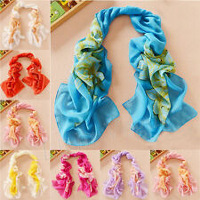 2016 Women Chiffon Peony FLoral Long Soft Neck Scarf Shawl Scarves Stole Wraps D