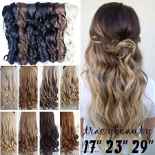 """17""""-30"""" One Piece Soft 5 Clips Clip in Hair Extensions Extension as Human TU23"""
