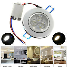 Silver LED Ceiling Recessed Downlight Spot Light Dimmable Home Office 3W