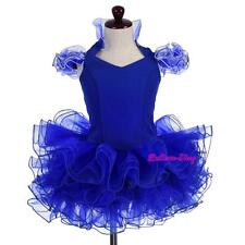 2pcs Cupcake Halter National Pageant Dress Shell DIY Party Kid Sz 12M-10 PT005