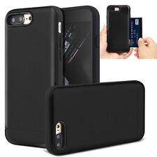 Credit Card Holder Wallet Case Shockproof Cover For Apple iPhone 6 6s 7 7Plus